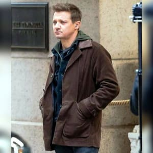 Clint-Barton- Hawkeye-2021- Jeremy-Renner- Brown-Leather- coat