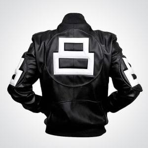 Seinfeld-8-ball- pool-stylish- fashion-Leather- Jacket