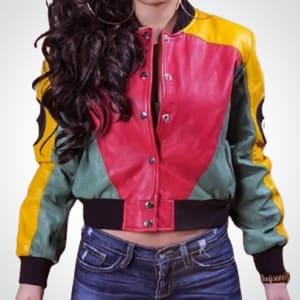 8-Ball-pool-Stylish-Bomber- Leather-Jacket For-women