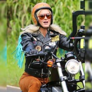 Katy-Perry-Harleys-in-Hawaii-Black- Moto-Fringe- Leather-Jacket