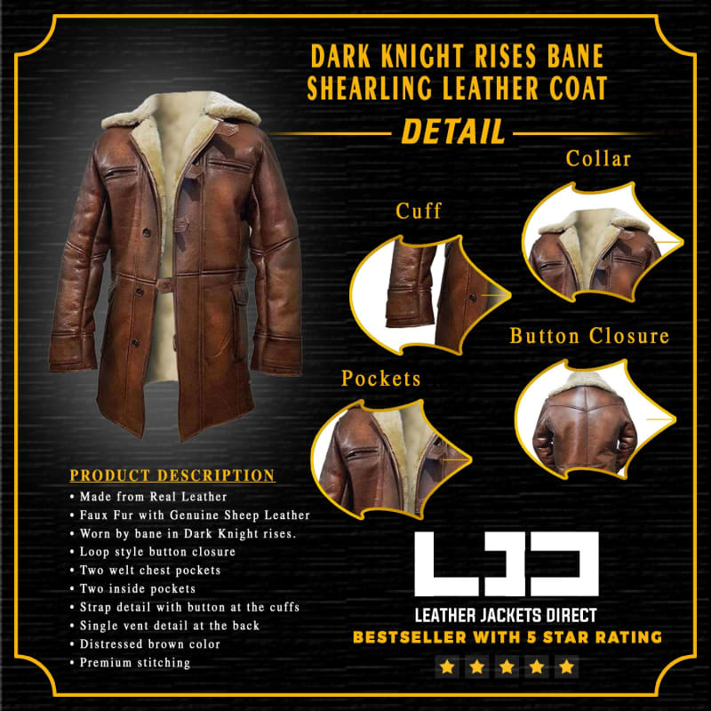 Dark-Knight-Rises-Bane-Genuine-Leather-Shearling-Brown-Ginger-Trench-Coat-Jacket