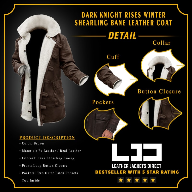 Dark-Knight-Rises-Shearling Bane-Trench-Leather-Coat