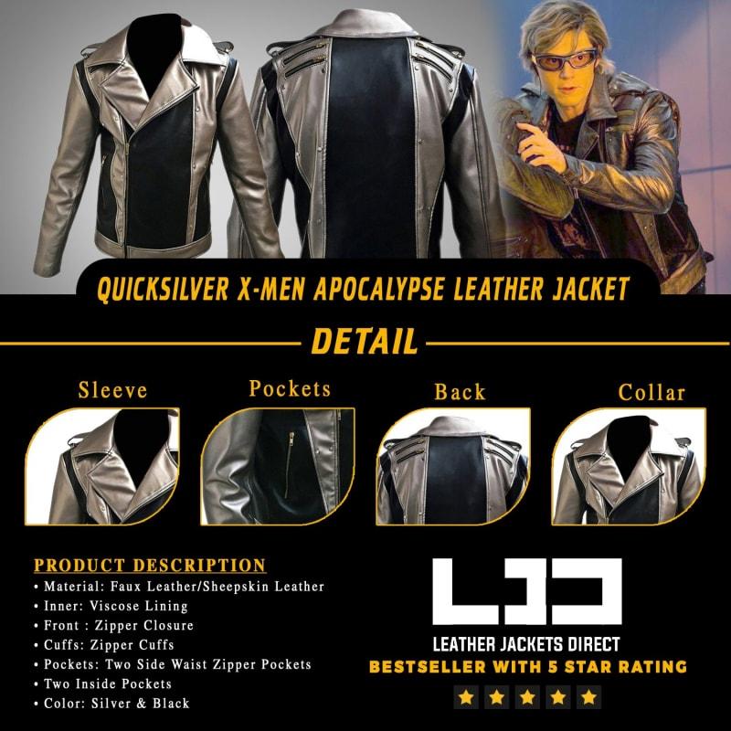 Quicksilver X-Men Apocalypse Cyclops Biker Leather Jacket