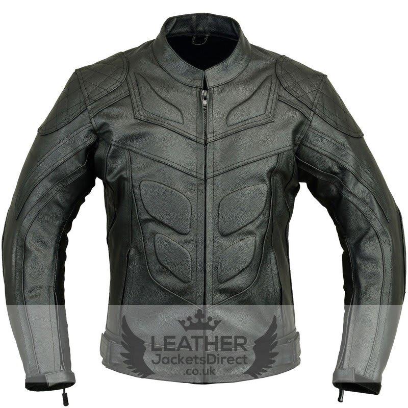 Batman Motorbike Leather Jacket Biker Protection Real / Faux Leather Jacket