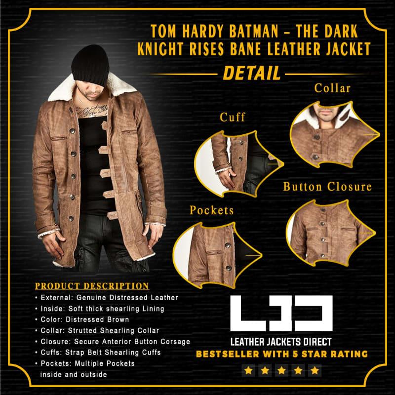 Tom Hardy Batman – The Dark Knight Rises Bane Leather Jacket
