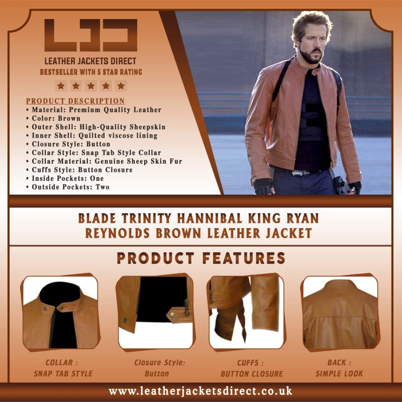 Blade-Trinity-Hannibal-King-Ryan-Reynolds-Brown-Leather-Jacket