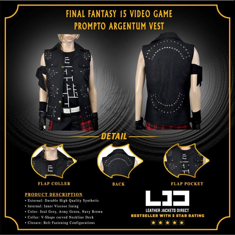 Final Fantasy 15 Video Game Prompto Argentum Vest