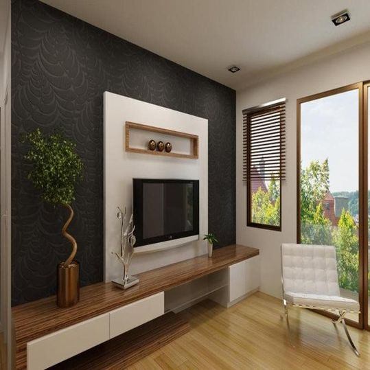 Backdrop Televisi yang Memberi Dimensi pada Ruangan Minimalis | Niaga Art Blog
