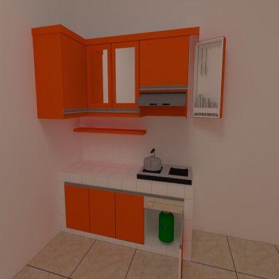 Orange Kitchen Set | Niaga Art