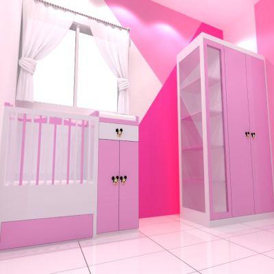Pink Baby Bedroom Set | Niaga Art