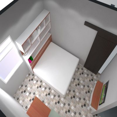 Bed Room Set with Shelf | Niaga Art