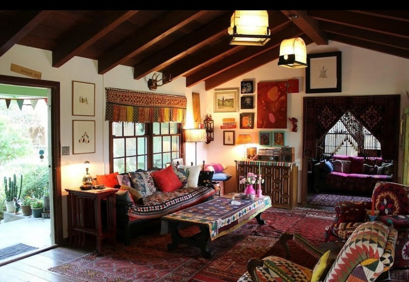 gaya interior rumah bohemian