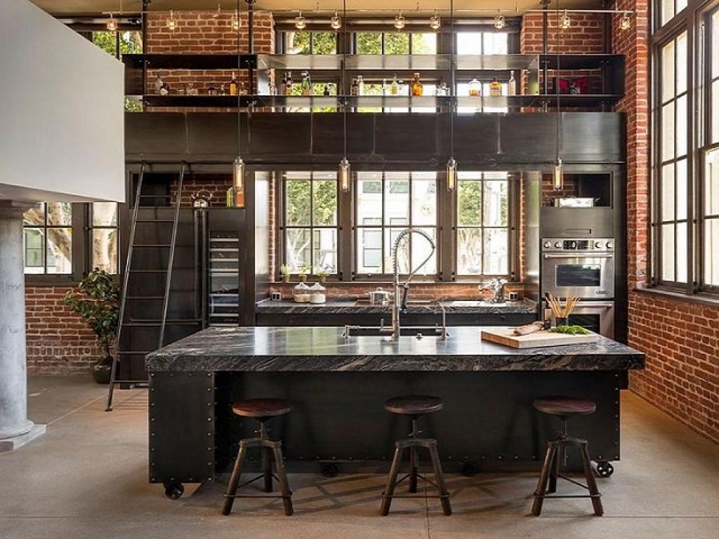 gaya interior industrial