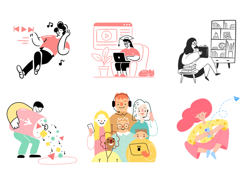 80 Streamline Free Illustrations