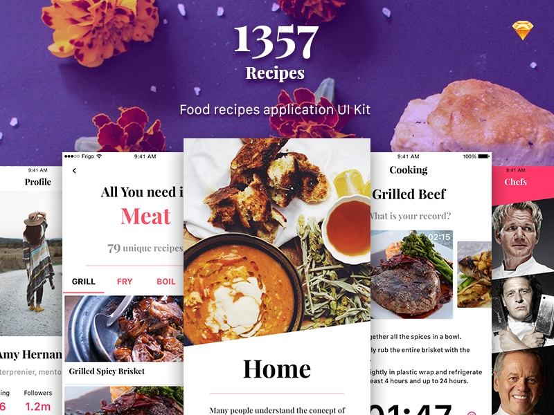 Recipe App UI Kit