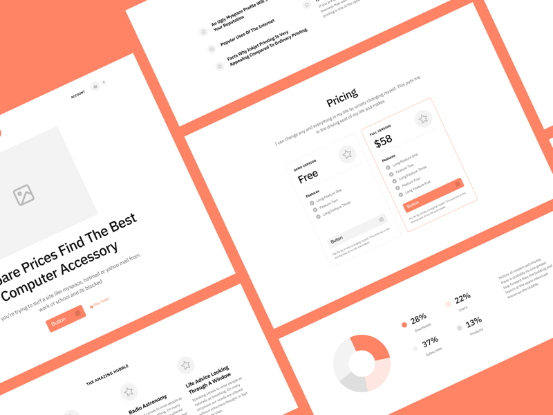 Sections - Landing Pages Wireframe Kit