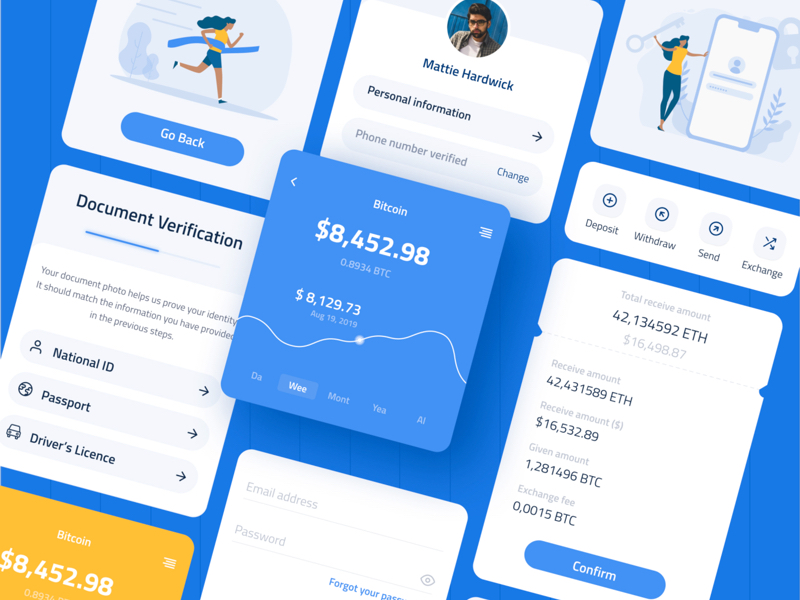 Whollet Crypto Wallet Free UI Kit