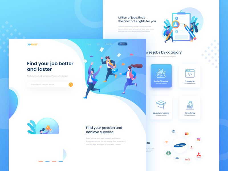 Jobest - Job Portal Landing Page