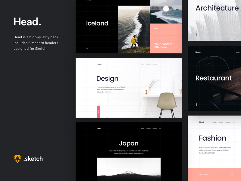 Head: Free Sketch Header Starter Kit