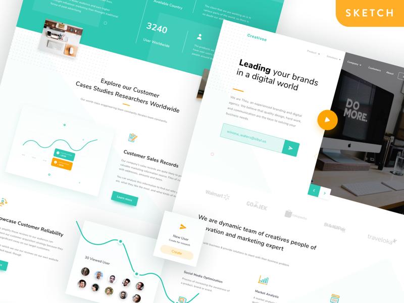 Creativoe Agency Landing Page