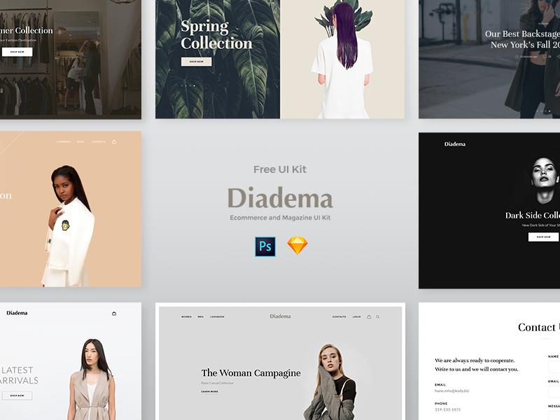 Diadema – UI Kit Web eCommerce