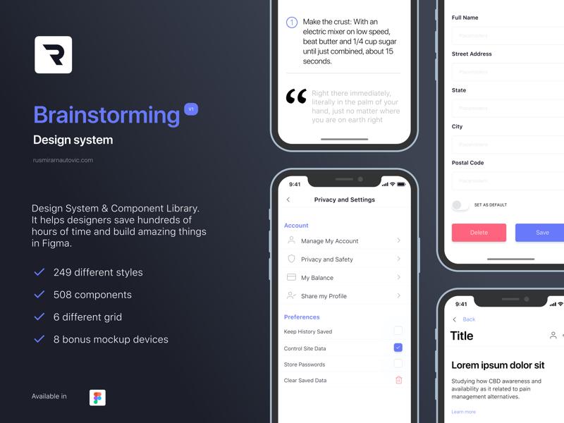 Brainstorming Design System for Figma