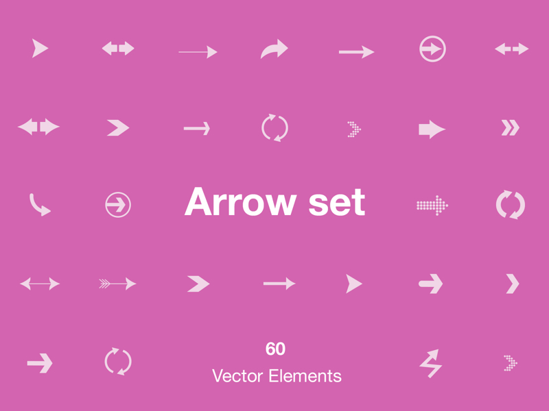 Arrow Set - 60 Vector Elements