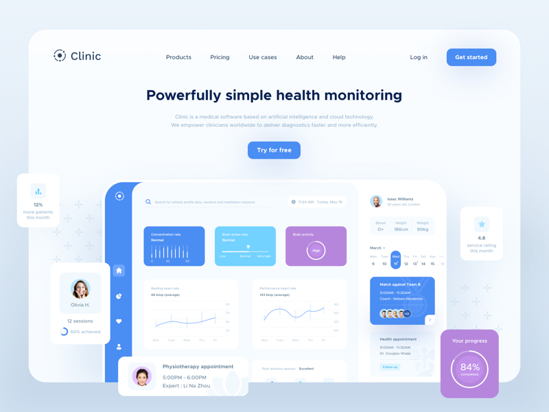 Clinic UI Elements for Sketch