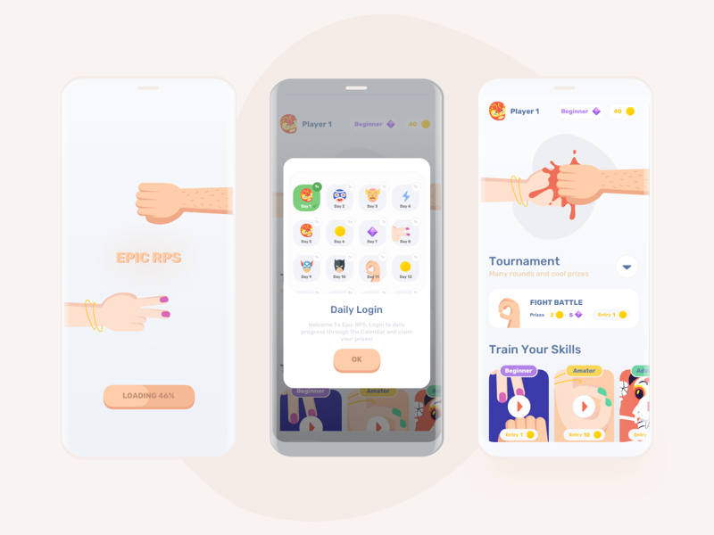 Epic Mobile Game UI Kit for Sketch
