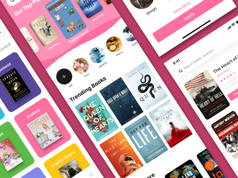 Bookshare App for Adobe XD
