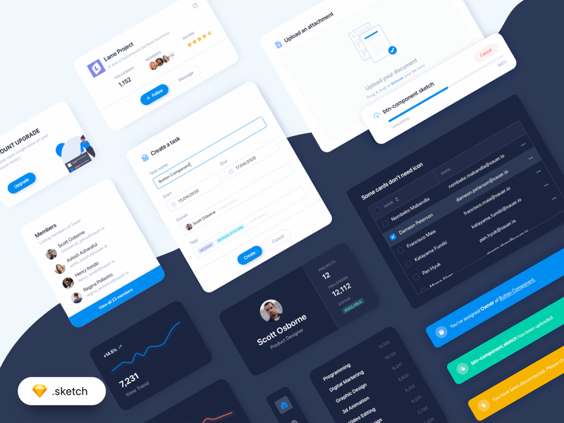 UI Elements for Sketch