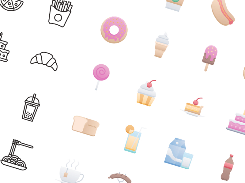 50 Food & Drink Free Icons