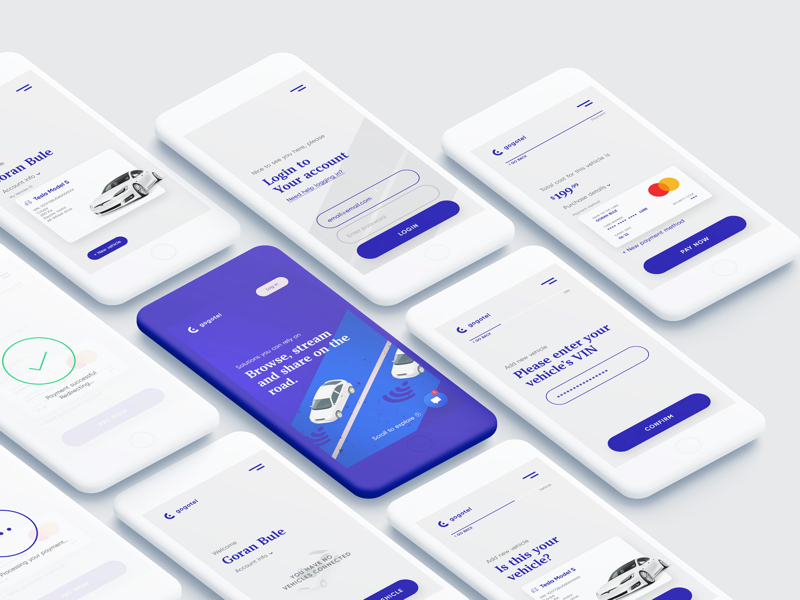 Connected Car App for Photoshop