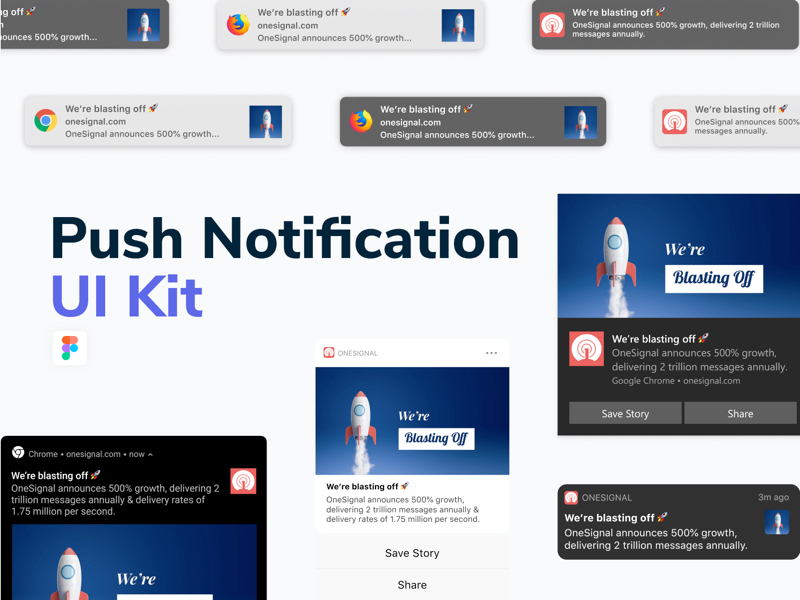Push Notification Free UI Kit for Figma