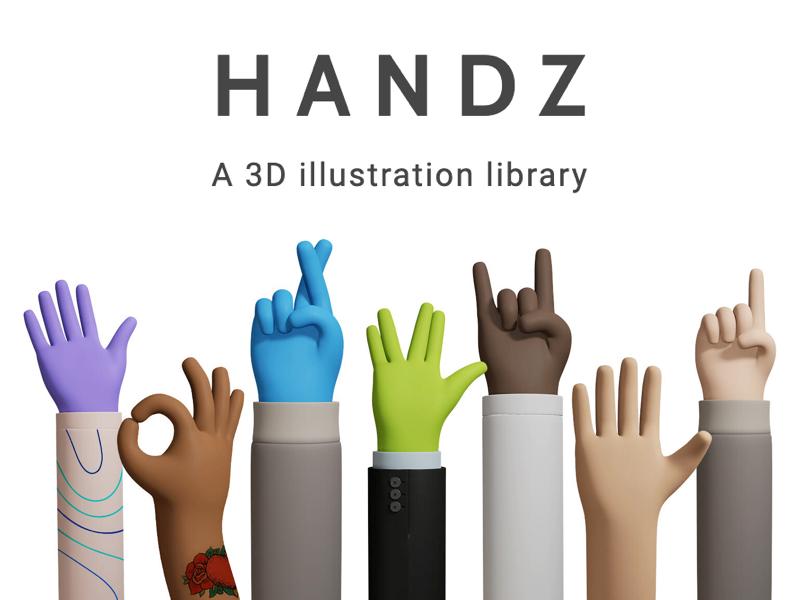 Handz 3D Illustration Library