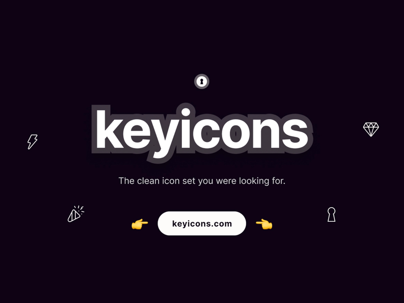 Keyicons - The clean icon set