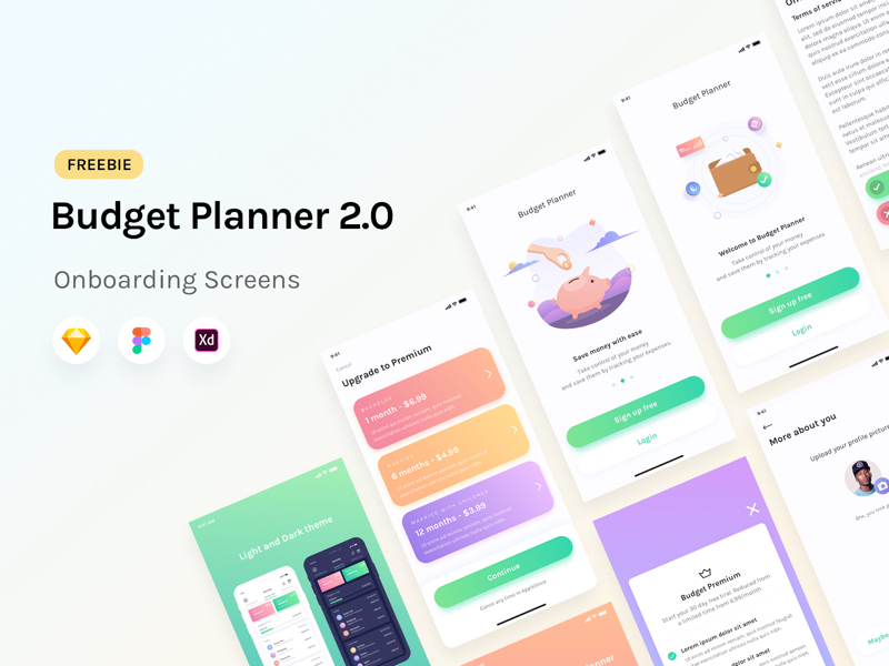 Budget Planner: Onboarding Screens UI Kit