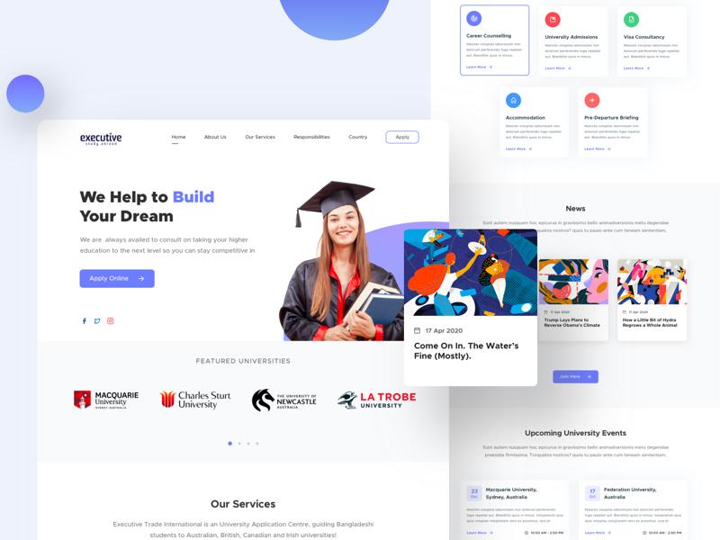Executive Study - Free Landing Page