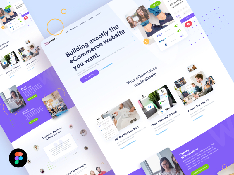 Woo Landing Page for Figma