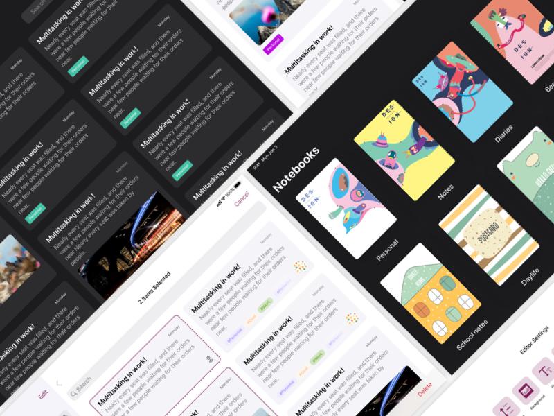 Penman Free App UI Kit for Sketch