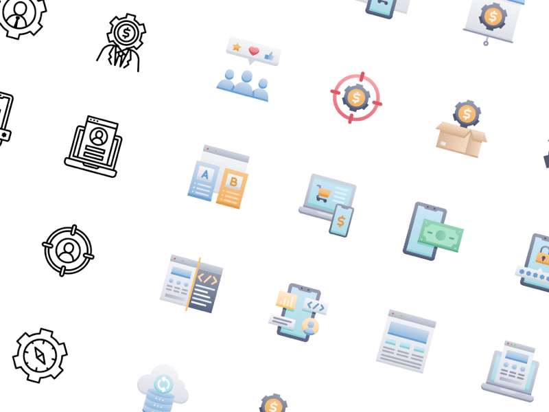50 Startups and SaaS Free Icons