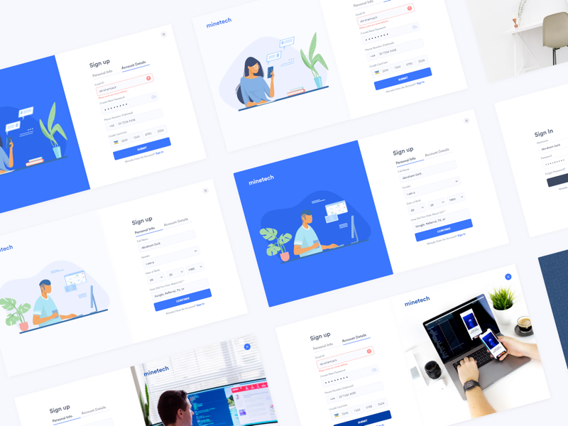 Sign Up Onboarding Free UI Kit for Adobe XD