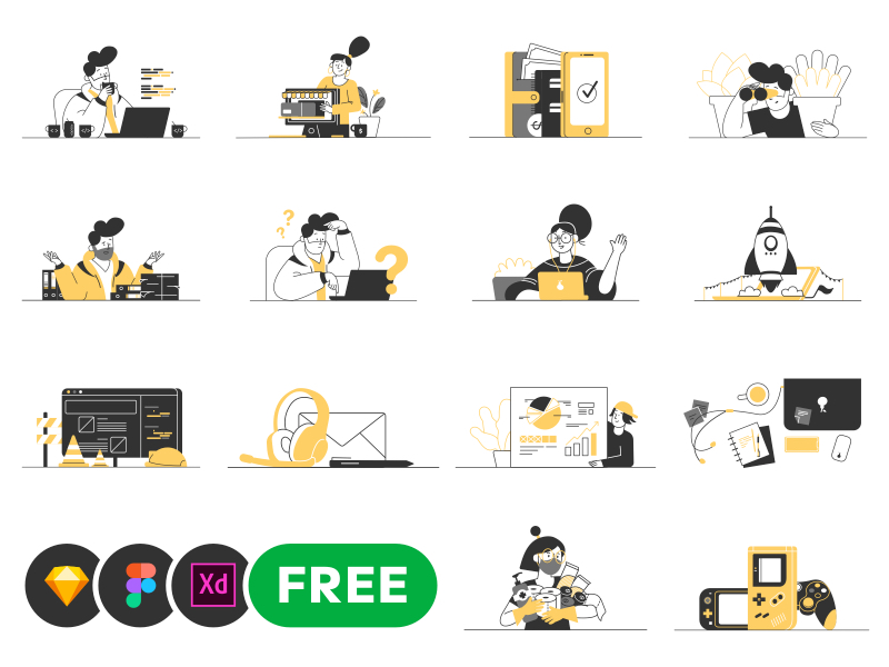 Whoooa - Free Customizable Illustrations
