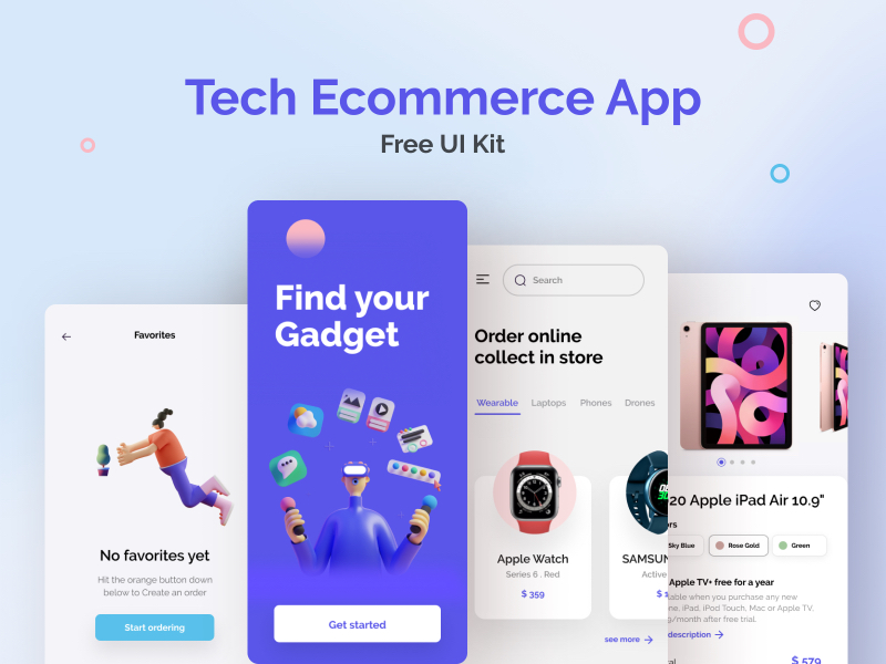 eCommerce Free App UI Kit for Figma