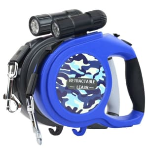 Multifunction Automatic Retractable Dog's Leash with LED Flashlight