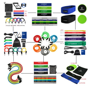 NEW 18 Piece TOMSHOO Resistance Bands