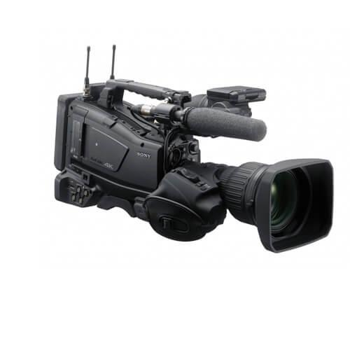 Filmadora de ombro avançada com equilíbrio de peso e sensor CMOS 4K tipo 2/3 com diversas funções de rede e baixo consumo de energia