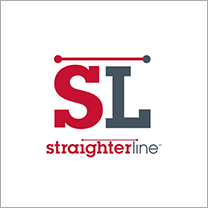 Straighterline white and transparent background