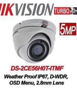 DS-2CE56H0T-ITMF5 MP Turret Camera