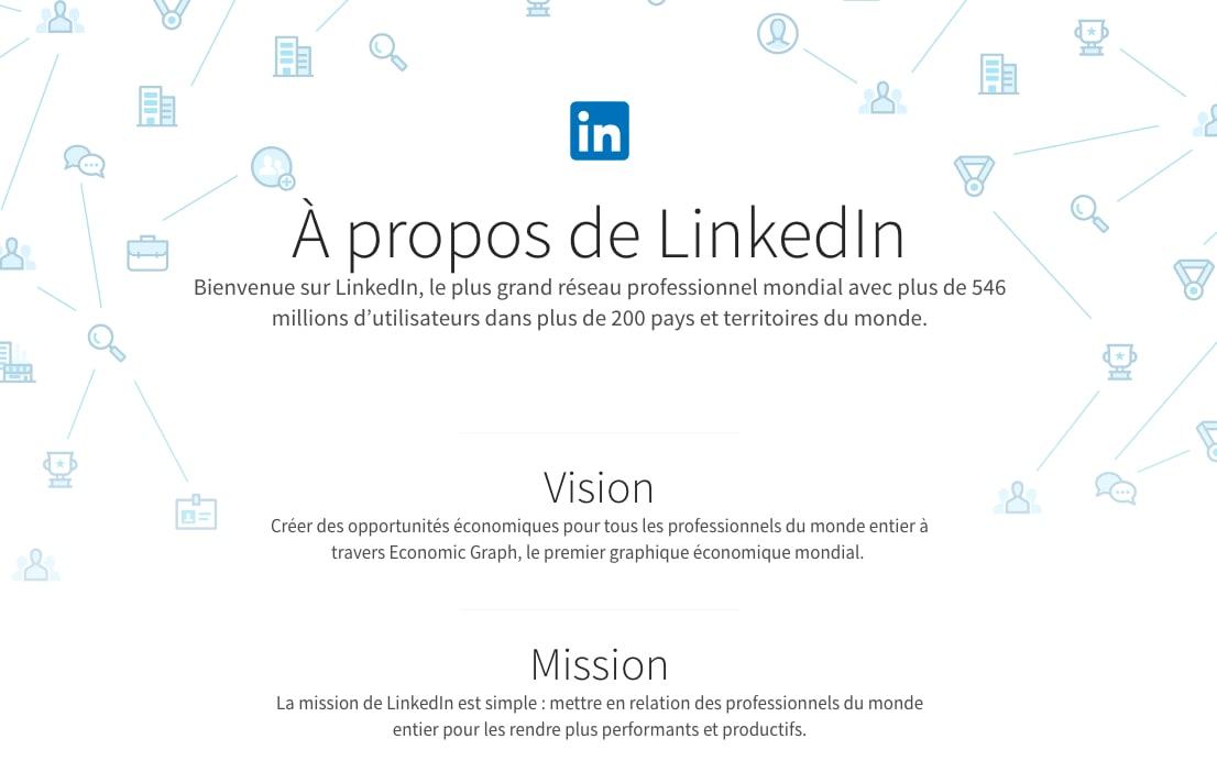Vision de LinkedIn
